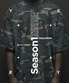 Typographic poster design for Adidas Originals x Kanye West Graphic Design Posters, Typography Design, Graphic Design Illustration, Graphic Tees, Web Design, Layout Design, Print Design, Layout Inspiration, Graphic Design Inspiration