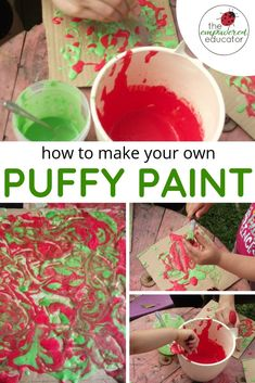 Homemade Puffy Paint Recipe for Toddler Sensory Play