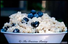 coconut blueberry quinoa with lime.