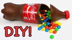 How to Make CHOCOLATE COKE Bottle Filled with M&M's Candy Fun & Easy DIY Dessert! - YouTube