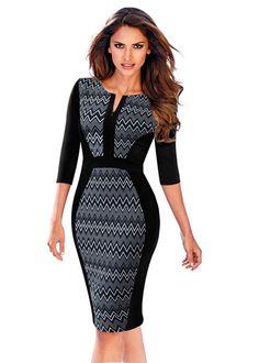 2e01df97c7 Compre Vestido Tubinho Bicolor Que Emagrecem e Afinam a Cintura - 7 cores
