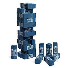 ThinkGeek :: Doctor Who: Tumbling TARDIS Tower Game