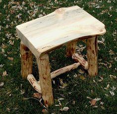 Rustic Log End Table by ReclaimedandRustic on Etsy, $110.00