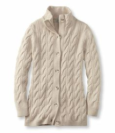 Rustic Cable Long Cardigan: Cardigans | Free Shipping at L.L.Bean