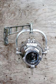 Strand 23 Retro Vintage Industrial Theatre Spotlight Lamp Light Furse Bracket   eBay