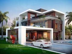 New exterior modern villa arquitetura ideas Modern Bungalow Exterior, Modern House Facades, Modern Exterior House Designs, Modern Farmhouse Exterior, Modern Architecture House, Modern House Plans, Modern House Design, Exterior Design, Bungalow House Design
