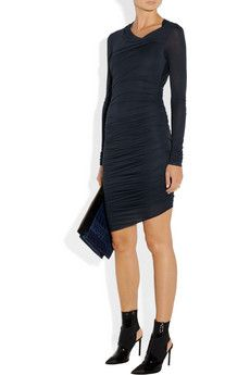 Helmut Lang- love the booties with the dress!