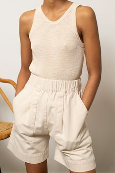 Natalie Martin, Chill Style, Vintage Inspired, Knitwear, Rompers, Photoshoot, Pockets, Shape, Cream