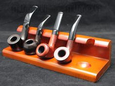 Alta-Calidad-fumar-tabaco Pipa-de-madera-stand-rack titular-Para-5-Pipas