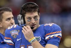 I love how Tim Tebow puts bible verses on his eye blacks, even though I am not a big Tebow fan.