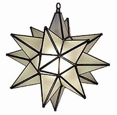 $280 Moravian Star Light Frosted Glass 15""