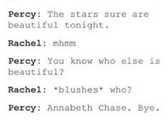 Yes tell her Percy