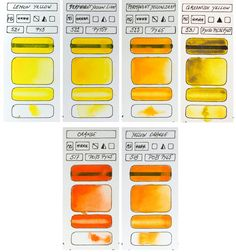 Swatches Mission Gold Watercolour 36 colour set Yellow colours