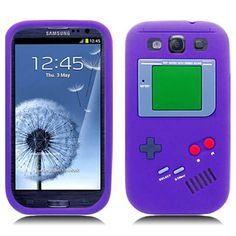 Retro Gameboy Silicone Samsung Galaxy S3 III Case - Purple