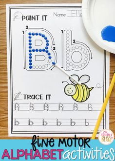 Art therapy activities preschool Fine motor alphabet activities are a fun learning center for preschool and kindergarten kids. Get free printables to use with your children today! Art Therapy Activities, Letter Activities, Preschool Learning Activities, Fun Learning, Preschool Ideas, Teaching Resources, Preschool Phonics, Preschool Letters, Learning Spanish