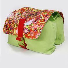 Nähanleitung für Fahrradtasche für Gepäckträger / Fahrrad Tasche, Satteltasche