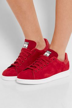 Sole measures approximately 20mm/ 1 inch Red leather and suede Lace-up front