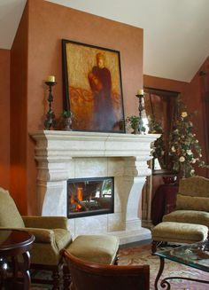 Find out Amazing Tuscan Arches Design Ideas 26 Naturally, the door with rounded arches are pricier than conventional models. The mural is subsequen. Exterior Design, Tuscan Design, Fireplace Mantels, Romantic Bedroom Decor, Great Rooms, Rustic Design, Home Decor, Fireplace Surrounds, Fireplace