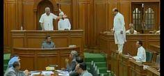 दिल्ली विधानसभा में अभूतपूर्व नजारा, बेंच पर खड़े होकर चिल्लाते दिखे बीजेपी विधायक