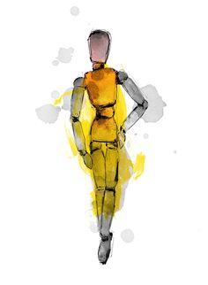 Fashion illustration by Lotta Larsdotter: Mannequin