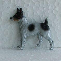 Tenterfield Terrier Tricolour Brooch Dog Breed Jewellery Resin Handpainted