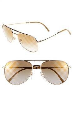 Burberry 57mm Aviator Sunglasses available at #Nordstrom