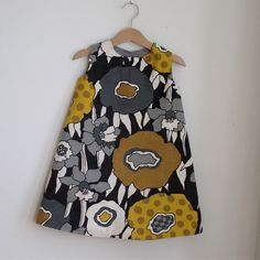 Toddler Dress  mod graphic toddler girls dress in by aprilscott