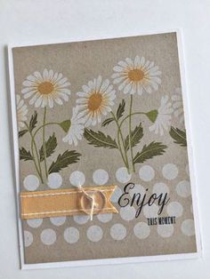 Flower Favorites Revisited - Enjoy This Moment Card by Heather Nichols for Papertrey Ink (September 2015)