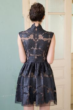 Mini little black lace dress on Etsy, $280.00