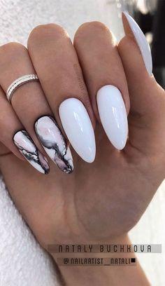 white and marble nail designs, mix n match nails, marble and white nail designs, mix and match marble nails , mix and match white nails Bling Nails, Stiletto Nails, Swag Nails, 3d Nails, Fabulous Nails, Perfect Nails, Gorgeous Nails, White Nail Designs, Acrylic Nail Designs