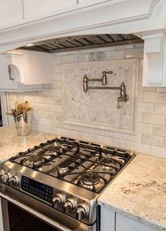 37 Creative And Innovative Kitchen Backsplash Decor Ideas. So you've seen a terrific-looking kitchen backsplash in a home and garden magazine and fallen in love. Or your next-door neighbor just . Shabby Chic Kitchen, Home Decor Kitchen, Diy Kitchen, Kitchen Ideas, Kitchen Stove, Kitchen Soffit, 10x10 Kitchen, Kitchen Faucets, Smart Kitchen