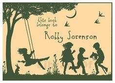 Kids at Play  Bookplates by FromTheLibraryOf on etsy