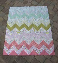zig zag quilt using triangles