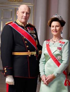 King Harald and Queen Sonja portrait