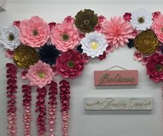Large Paper Flowers-Backdrop-Wedding Arch-Photo Booth-Flower