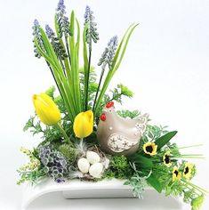 KOMPOZYCJA WIELKANOCNA STROIK Easter Crafts, Paper Flowers, Floral Arrangements, Exotic, Bouquet, Bloom, Spring, Plants, Handmade