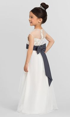 0cdb8850afd High-Low Ivory Bari Jay Flower Girl Dress F6517