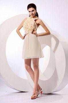 Chiffon Elfenbein A-Line Party Dress kv2527 - Silhouette: A-Line; Stoff: Chiffon, Verzierungen: Blumen, Länge: Kurz - Price: 158.3500 - Link: http://www.kleiderverkaufen.de/chiffon-elfenbein-a-line-party-dress-kv2527.html