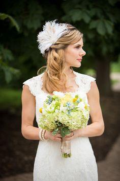 Wedding Bridal Fascinator, Bridal Fascinator, Feather Fascinator , Wedding Veil, Bridal Headpiece, Pearl and Rhinestones - The Couture Bride on Etsy, $69.00
