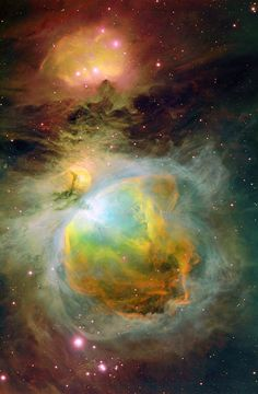 Nebula (Looks spherical, perhaps the early stages of a planet forming?)