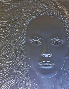 """icy stare"" Sandblast carved by Stuebner Glass Design"