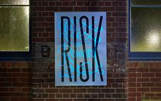 Risk vs Reward Poster by Büro North A motion sensitive UV light source reveals the 'vs reward' component through the use of invisible UV ink. Inspiration Typographie, Typography Inspiration, Grid Design, Graphic Design, Blog Design Inspiration, Creative Inspiration, Types Of Lettering, Hand Lettering, Typographic Poster