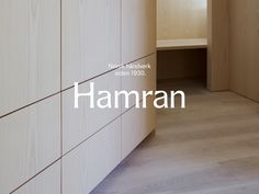 Studio Oker's identity for Norwegian furniture maker Hamran centres around a bespoke serif typeface — The Brand Identity Branding, Brand Identity, Identity Design, Visual Identity, Graphic Design Projects, Graphic Design Inspiration, Creative Inspiration, Serif Typeface, Old Logo