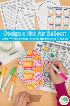 Decorate your bulletin board with these creative hot air balloon. Fill your art sub plans folder with no-prep art projects & crafts for back to school. Art Games For Kids, Art Lessons For Kids, Spring Art Projects, Projects For Kids, Art Sub Plans, Balloon Games, Glue Art, Arts Integration, Teacher Inspiration