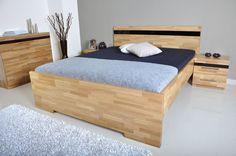 manzelska drevena postel, dub masiv #postel