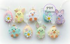 PDF instructions for felt Easter friends garland decoration