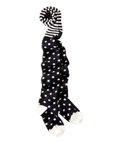 Look what I found on #zulily! Black & White Polka Dot Tights - Infant, Toddler & Girls #zulilyfinds