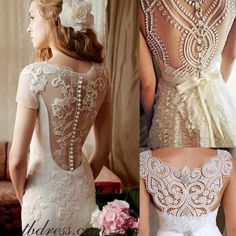 Love the back designs on these vintage gowns