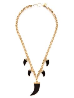 Horn Pendant Necklace by Soixante Neuf at Gilt