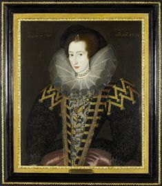 Mary Rogers, by English School, ca. 1585-1590 Oil on wood panel 29.5 in. x 24.5 in. Private collection